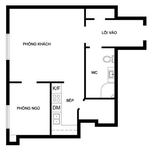 Căn hộ 37 m2 vẫn sang trọng nhờ thiết kế
