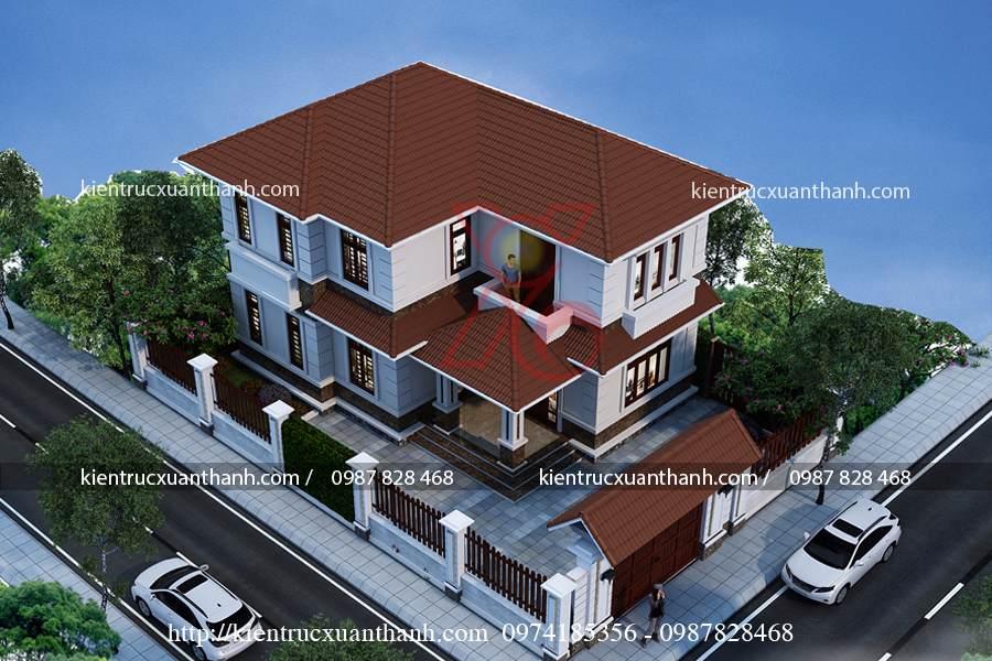 tư vấn biệt thự 2 tầng mái thái 01