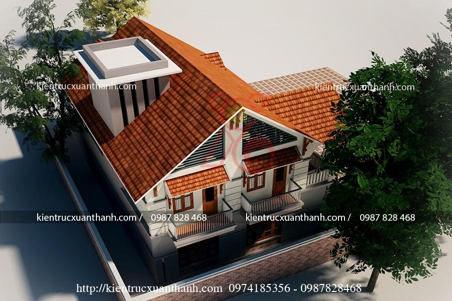 biệt thự 2 tầng mái thái 260m2