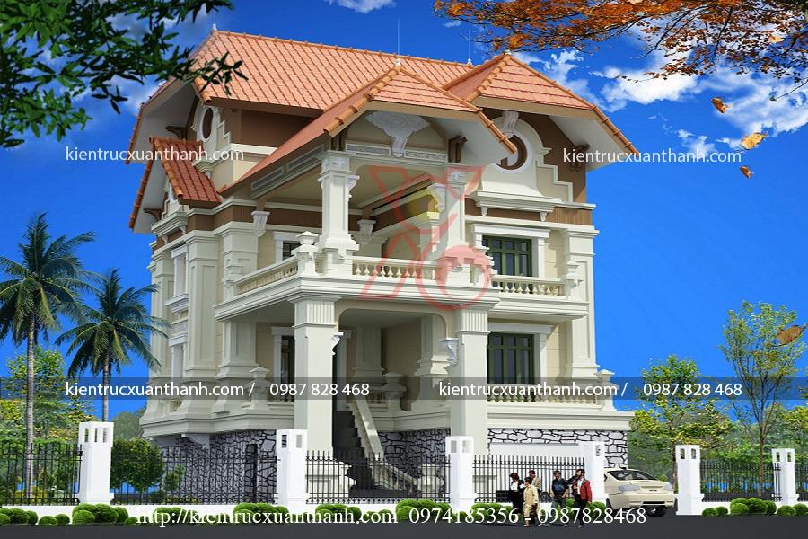 mẫu biệt thự 3 tầng cổ điển đẹp