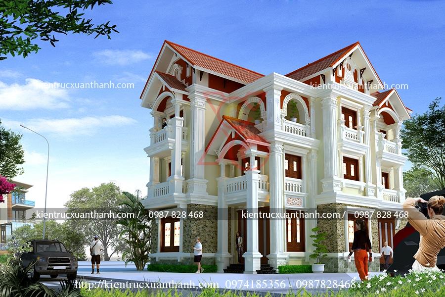 mẫu biệt thự 3 tầng tân cổ điển tại Nam Định