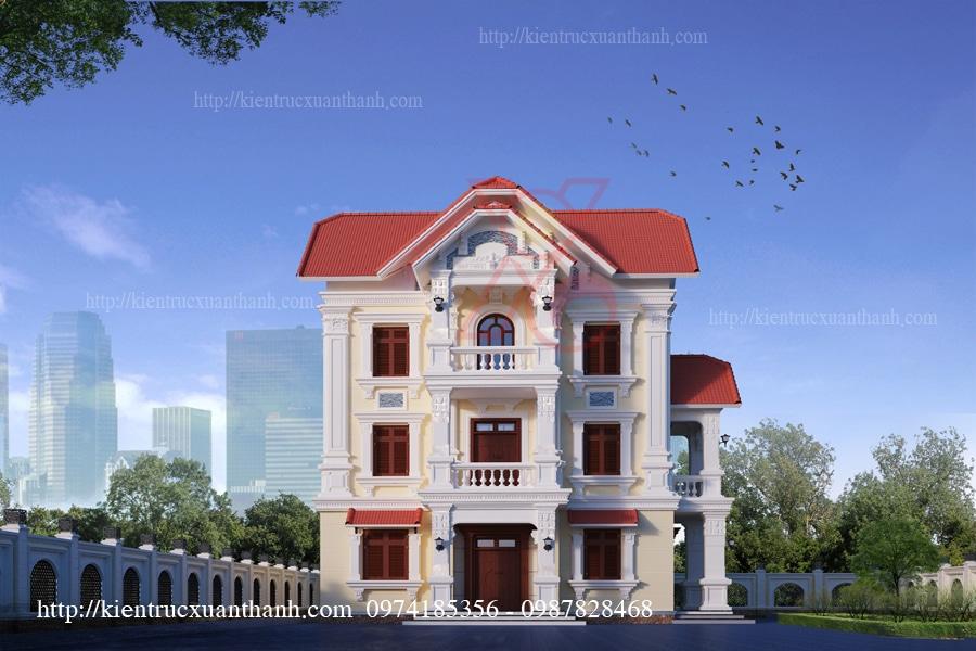 mẫu biệt thự 3 tầng cổ điển tại Lào Cai