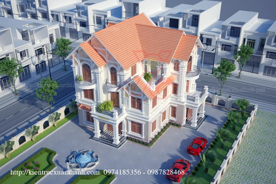 mẫu nhà biệt thự 3 tầng tân cổ điển đẹp tại Điện Biên