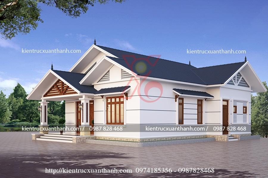 mẫu nhà 1 tầng mái thái đẹp BT18238