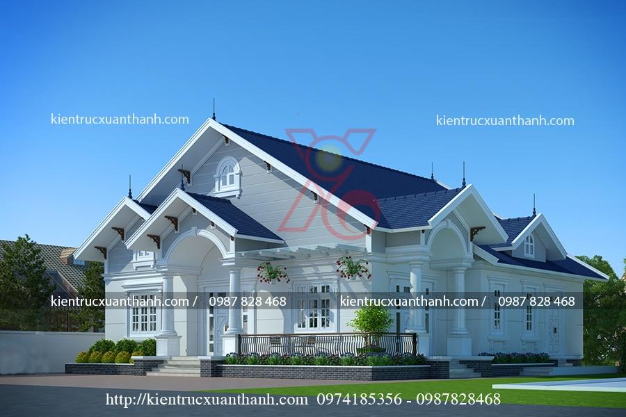 mẫu nhà 1 tầng mái thái của anh Mừng ở Hòa Bình