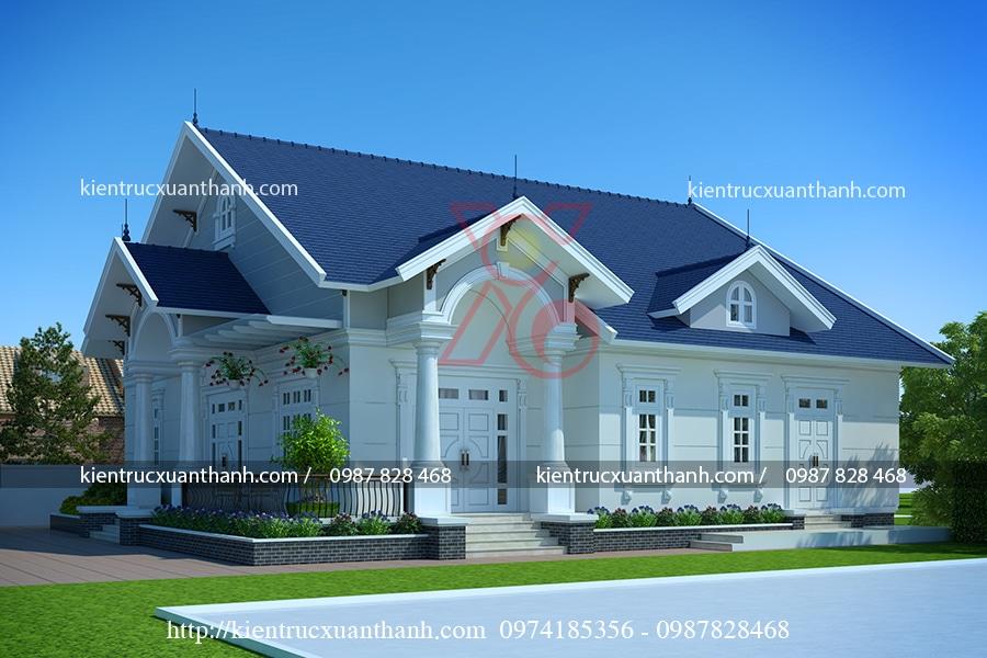 mẫu nhà 1 tầng mái thái đẹp tại Hòa Bình