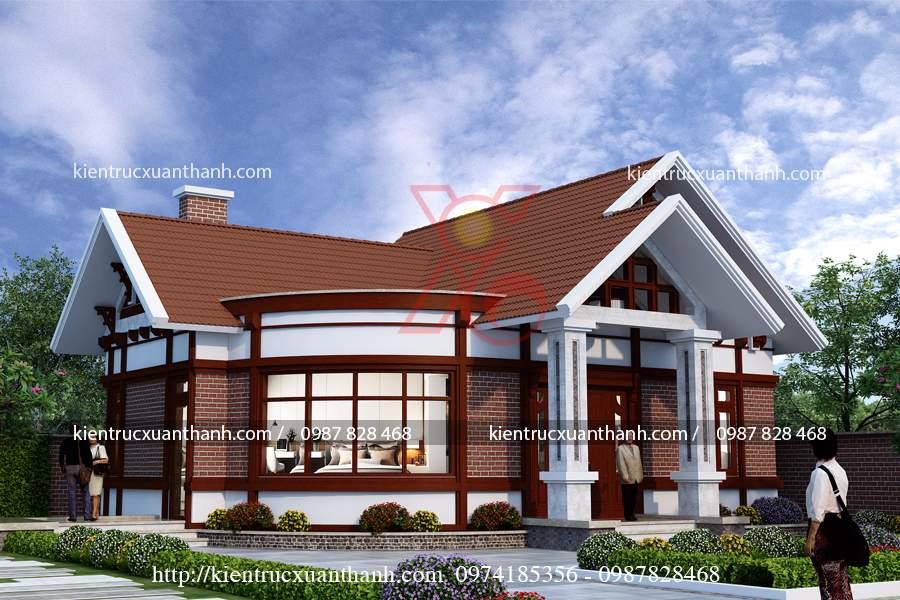 mẫu nhà 1 tầng nông thôn đẹp