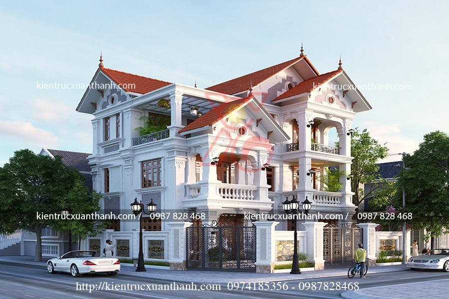 thiết kế mẫu biệt thự 3 tầng cổ điển