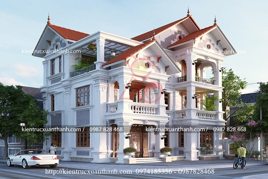 mẫu biệt thự 3 tầng cổ điển