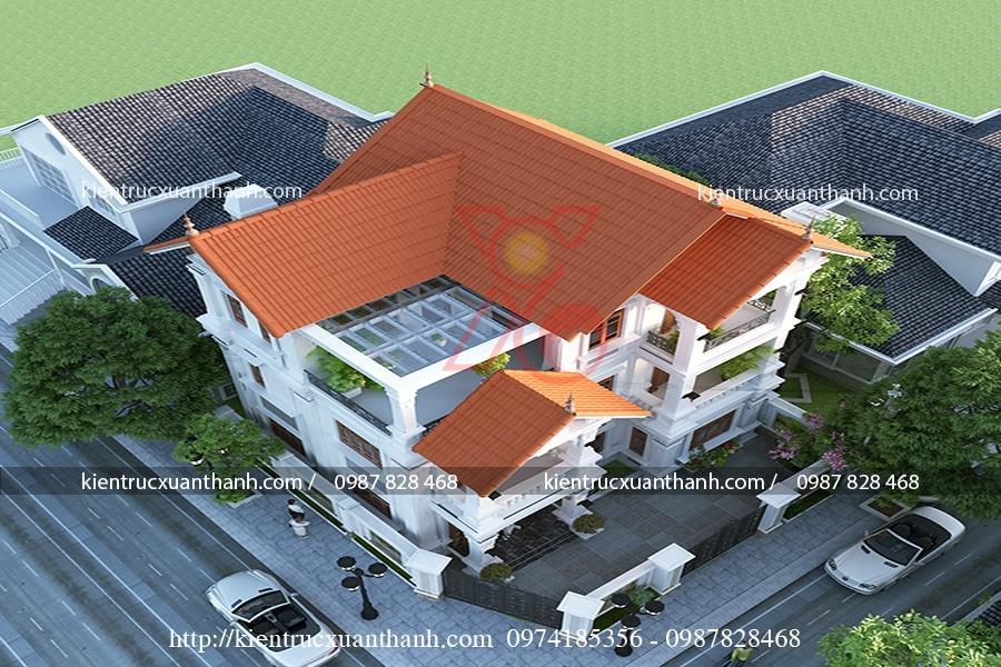 mẫu biệt thự 3 tầng cổ điển tại Bắc Ninh