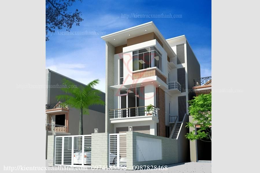 mẫu nhà phố 4 tầng hiện đại