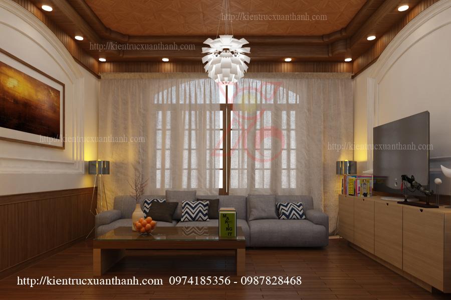 mẫu thiết kế nội thất phòng khách đẹp 02