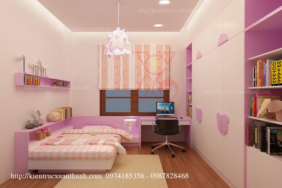 Phòng ngủ đẹp cho con gái anh Triều