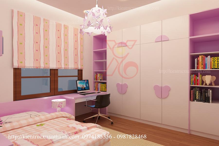 Phòng ngủ đẹp cho con gái anh Triều 02