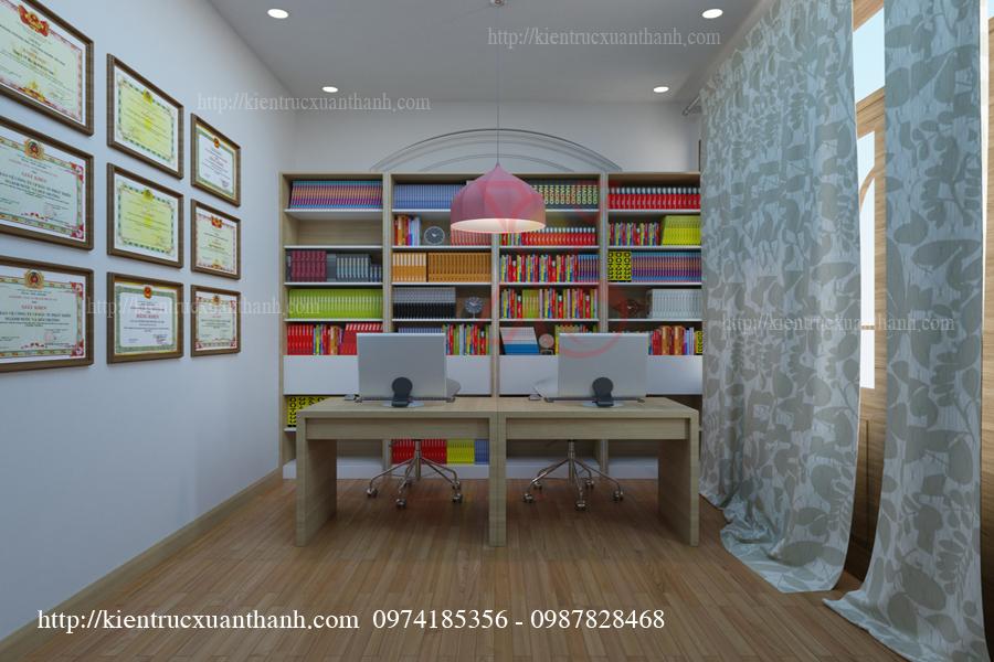 Mẫu thiết kế phòng làm việc đẹp của anh Triều