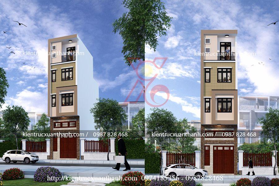 Mẫu nhà ống 4 tầng hiện đại tại Hà Nội NP18306