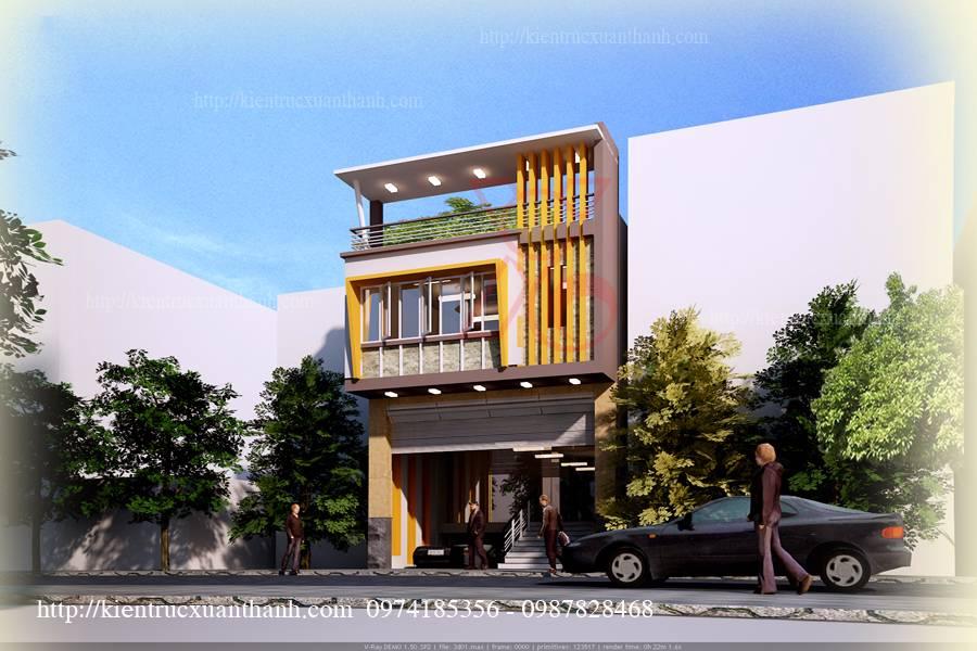 mẫu nhà phố 3 tầng hiện đại tại Hà Nội