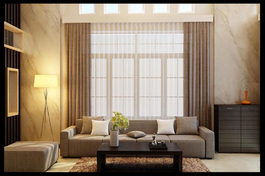 phòng khách mẫu thiết kế biệt thự 1 tầng đẹp