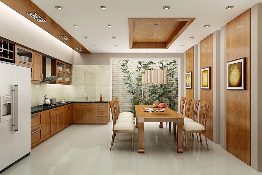 Bếp ăn mẫu biệt thự 1 tầng đẹp
