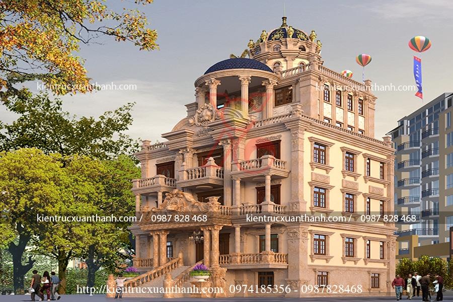 mẫu biệt thự cổ điển đẹp tại Hà Nam