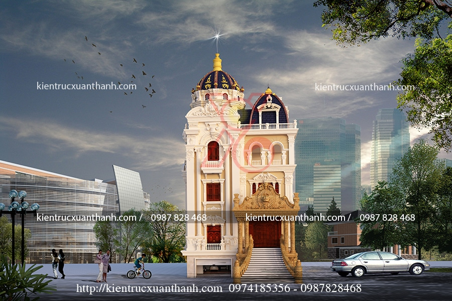thiết kế biệt thự lâu đài đẹp tại Ninh Bình