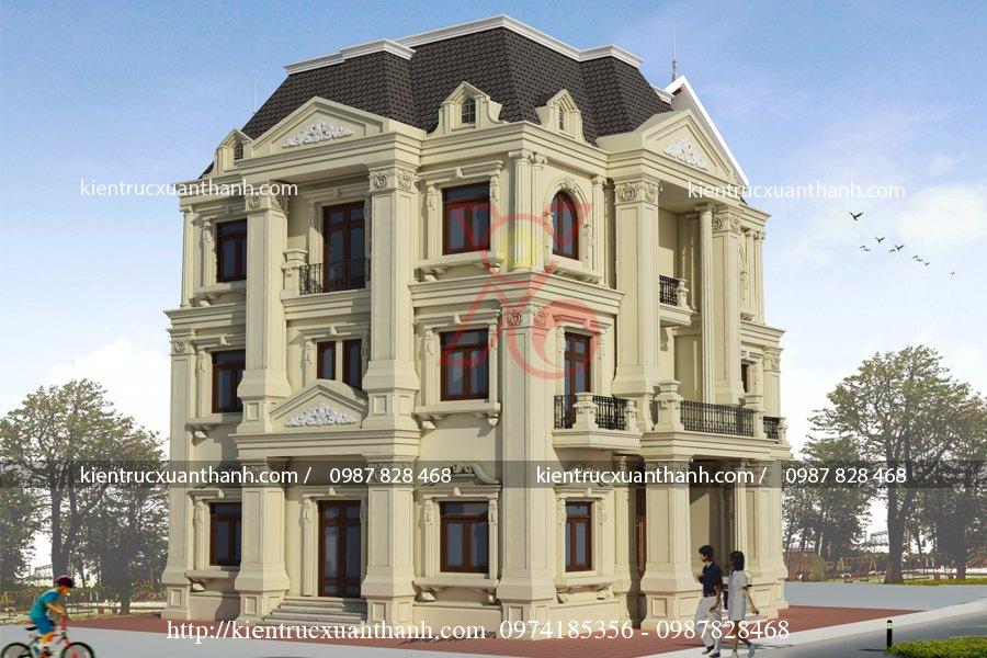 mẫu thiết kế biệt thự 3 tầng cổ điển