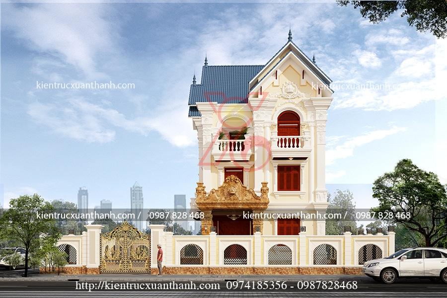 mẫu biệt thự 3 tầng cổ điển đẹp tại Thái Nguyên