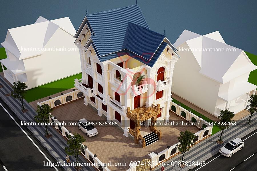 biệt thự 3 tầng cổ điển đẹp tại Thái Nguyên