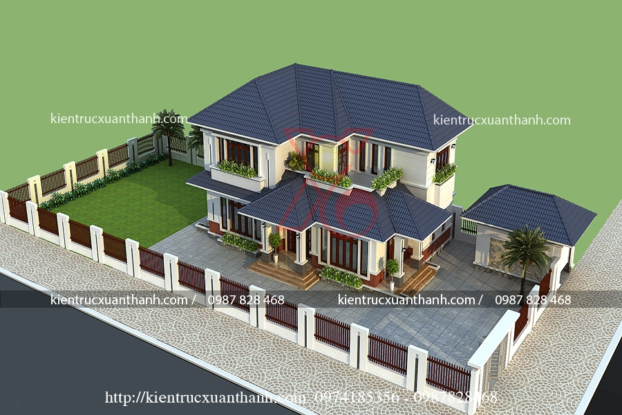 mẫu thiết kế nhà 2 tầng đẹp giá rẻ