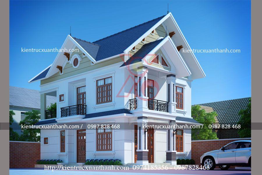 thiết kế nhà 2 tầng mái thái đẹp tại Bắc Ninh