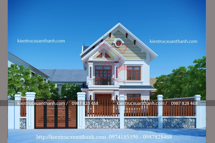 tư vấn thiết kế nhà 2 tầng mái thái