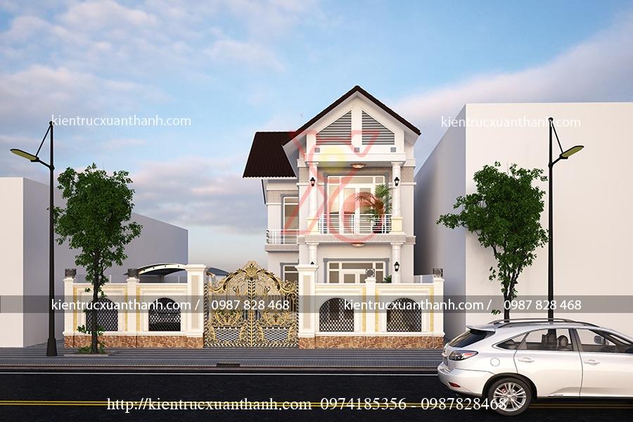 tư vấn thiết kế nhà 3 tầng tân cổ điển đẹp tại Sơn La