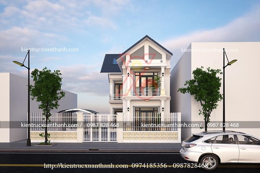 mẫu thiết kế nhà 3 tầng của anh Đối tại Sơn La