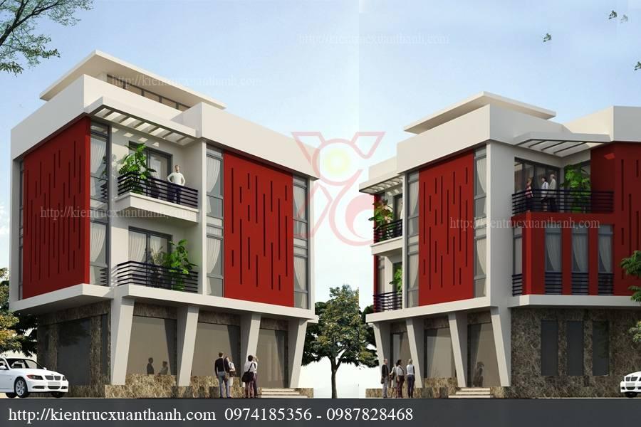 mẫu thiết kế nhà phố 3 tầng 10x15m tại Hải Dương đẹp