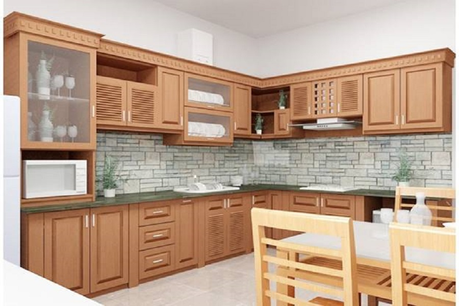 Vì sao nên dùng kính màu thay gạch ốp tường bếp
