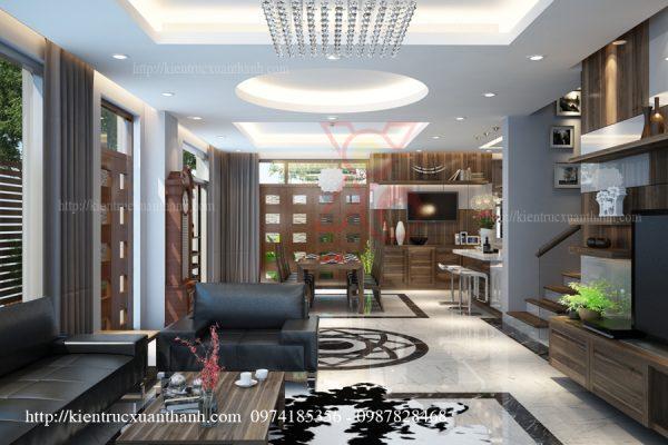 thiết kế nội thất biệt thự hiện đại 001