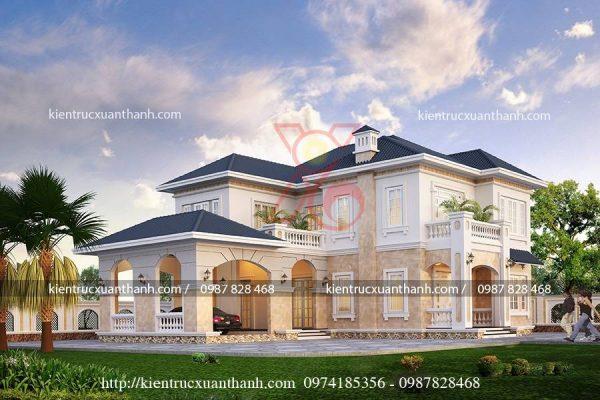 thiết kế biệt thự 2 tầng đẹp BT18234 - Ảnh 1