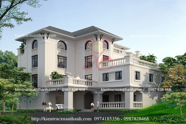 thiết kế biệt thự 3 tầng đẹp BT18187