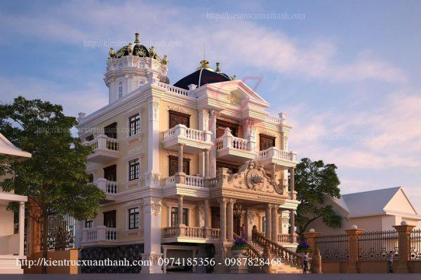 thiết kế biệt thự cổ điển đẹp BT18204 - Ảnh 2