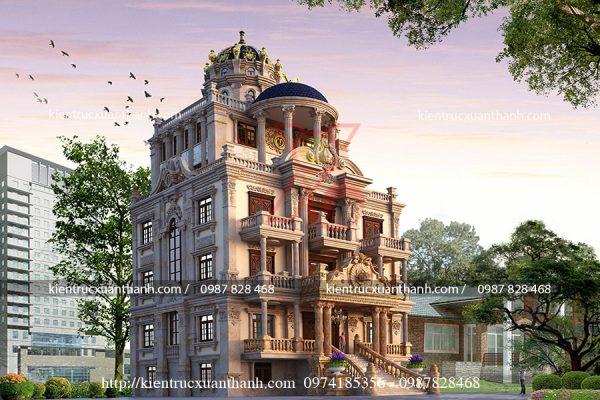 thiết kế lâu đài 5 tầng đẹp BT18200 - Ảnh 3