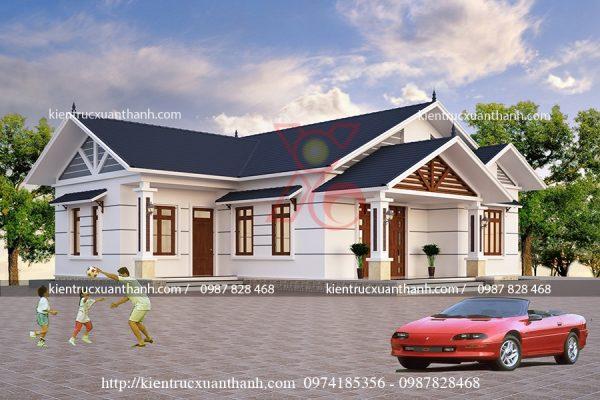 mẫu nhà 1 tầng cô Vy Thái Bình BT18238