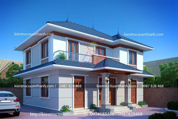thiết kế nhà mái thái 2 tầng BT18266 - Ảnh 1