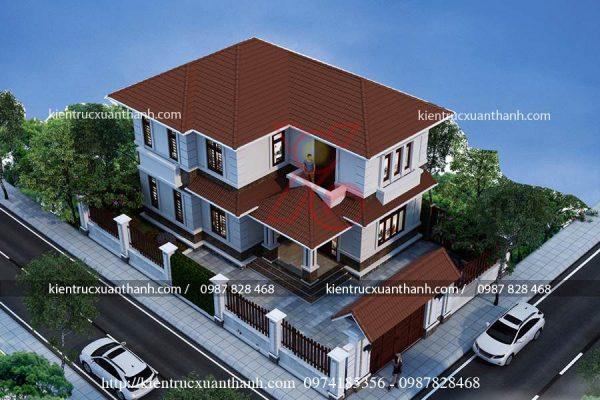 tư vấn biệt thự 2 tầng mái thái BT18264 - Ảnh 1