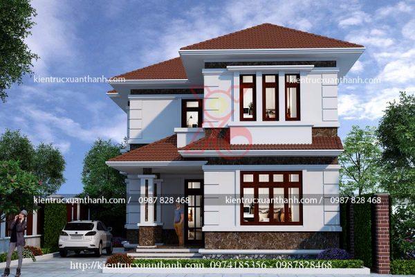 tư vấn biệt thự 2 tầng mái thái BT18264 - Ảnh 3