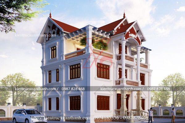 biệt thự 3 tầng tân cổ điển BT18457 - Ảnh 2