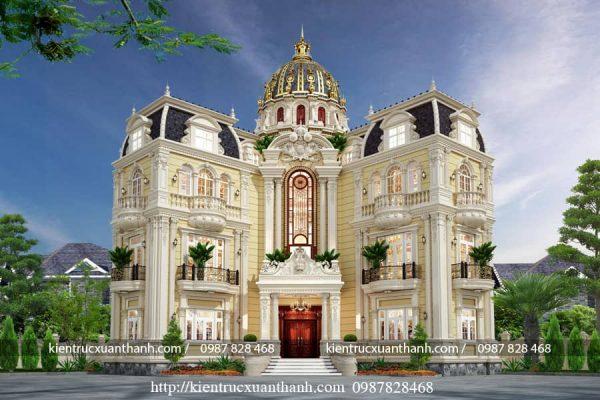 biệt thự 3 tầng tân cổ điển đẹp BT18452 - Ảnh 3