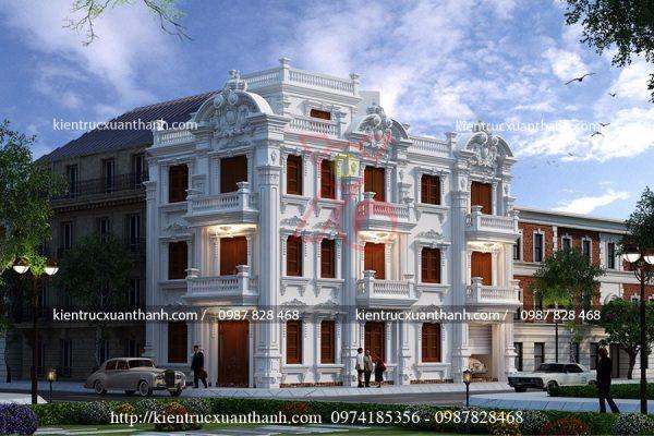 biệt thự cổ điển 3 tầng BT18448 - Ảnh 1
