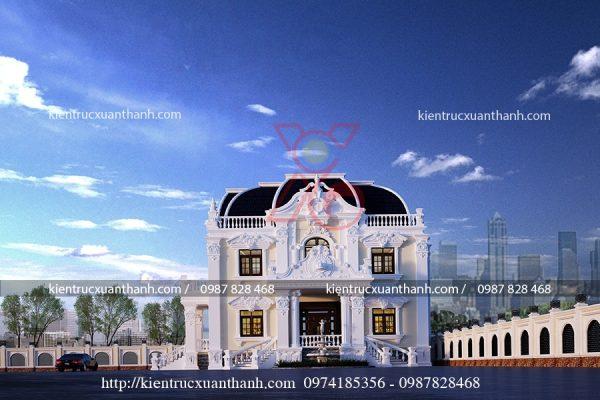 biệt thự cổ điển đẹp BT18236 - Ảnh 1