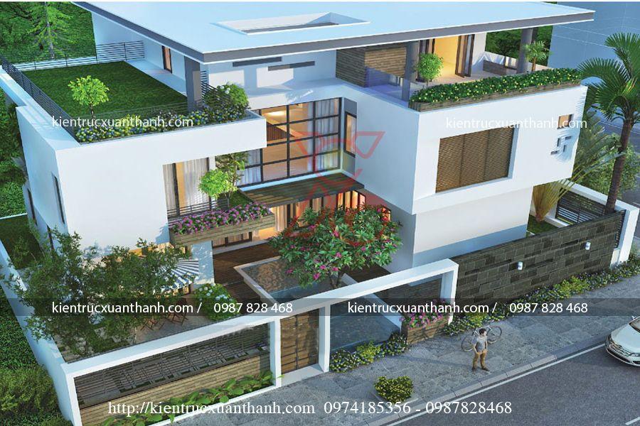 biệt thự đẹp phong cách hiện đại BT18461.1