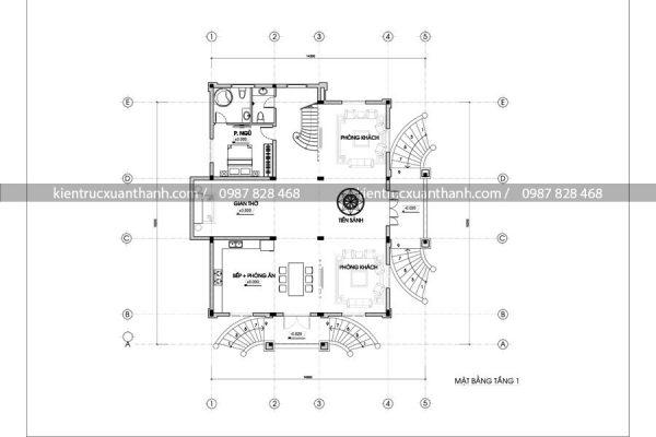 biệt thự cổ điển đẹp BT18236 - Ảnh 4